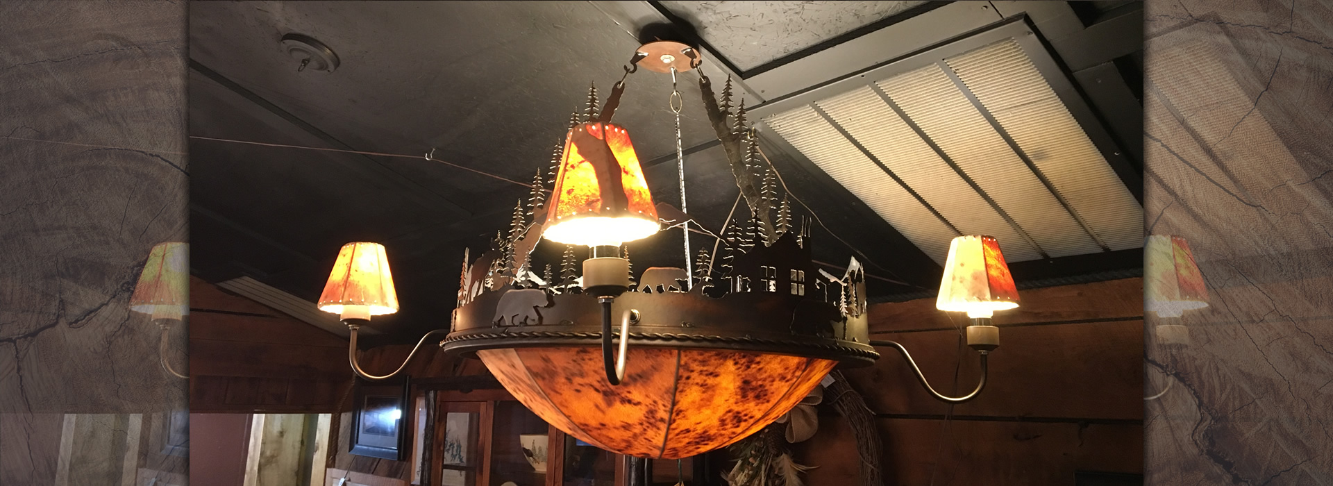 Cowhide Chandelier